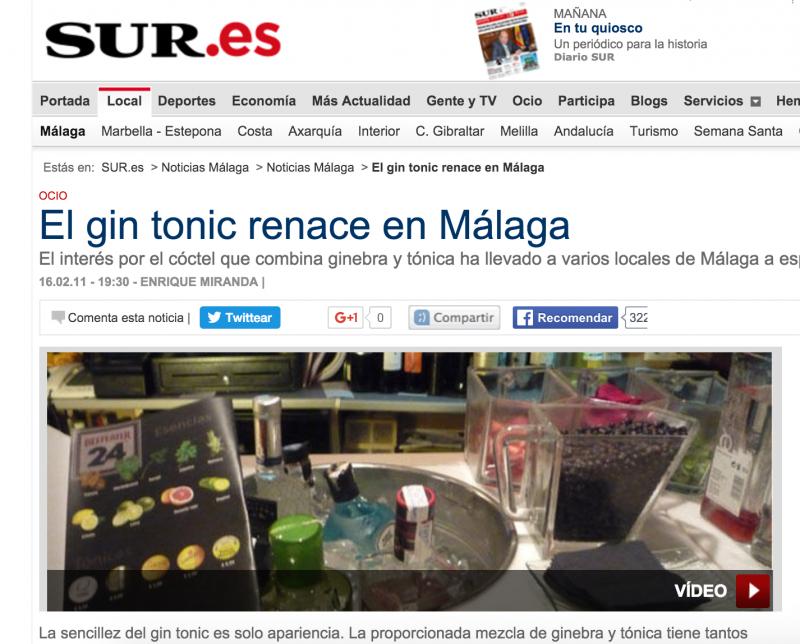 gin tonic bar malaga diario sur